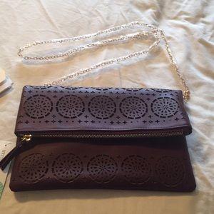 Laser cut clutch purse